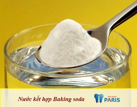 Nước kết hợp Baking Soda - Phương pháp lấy cao răng đơn giản