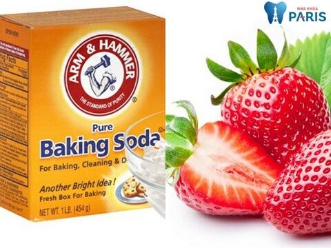 Baking soda kết hợp dâu tây - Biện pháp lấy vôi răng dễ dàng thực hiện