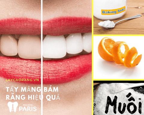 Tẩy mảng cao răng tại nhà với vỏ cam, baking soda và muối