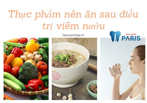Ăn nhiều rau củ quả và các thực phẩm mềm để giúp răng lợi màu hồi phục