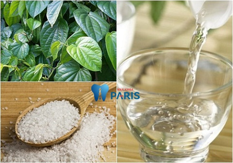Súc miệng với dung dịch lá trầu không, rượu, muối để chữa viêm lợi hiệu quả